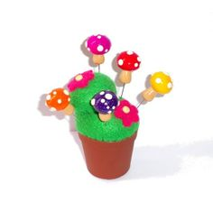 5X Festival Mushrooms Sewing Pins Topper