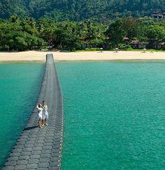 I remember those bouncy pontoons - Koh Lanta, Thailand