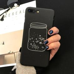 Cute Cartoon Wishing Bottle Planet Moon Phone Case For iPhone 7 6 Plus Fashion Starry Sky Hard PC Cases Back Cover Iphone 8, Apple Iphone, Coque Iphone, Iphone Phone Cases, Galaxy Phone Cases, Samsung Galaxy, Pc Cases, Cute Phone Cases, Galaxy Jar