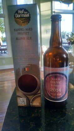 Hof ten Dormaal Belgian Blonde Ale aged in Cognac barrel 2014 (★★★)