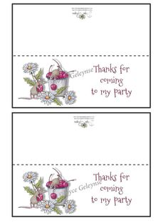 Printable Birthday Bag Topper  Thanks for by FreshAirPrintables