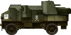 German Freikorps's Garford-Putilov, with the distinctive skull and crossbones.