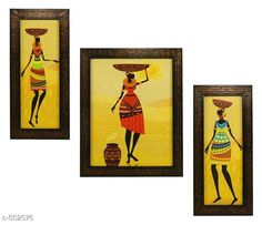 Paintings & Posters Floral Paintings Paintings (Set Of 3) Material: Wood & Plastic Size: (L x W) - Frame 1 - 5.2 in x 12.5 in Frame 2 - 9.5 in x 12.5 in Frame 3 - 5.2 in x 12.5 in Description: It Has 3 Pieces Of Wall Paintings Work: Printed Note: Glass Not Included Country of Origin: India Sizes Available: Free Size   Catalog Rating: ★4.1 (452)  Catalog Name: Spiritual Wall Paintings Vol 20 CatalogID_55286 C127-SC1611 Code: 513-502076-756