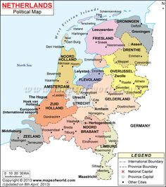map of netherlands with cities - Google Search Holland Map, Going Dutch, Historical Maps, Planer, Netherlands, Europe, Politics, Country, Amsterdam
