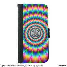 Shop Optical illusion iPhone Wallet Case created by Elydoric. Leather Design, Optical Illusions, Apple Iphone 6, All In One, Phone Cases, Wallet, Envy, Gender, Cards