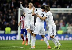 Pepe scores the first goal for Real Madrid in the Copa Del Rey semi final vs Atletico Madrid
