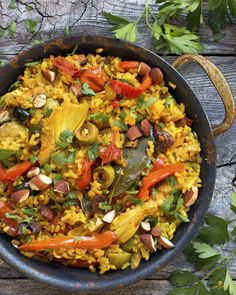 Summer vegetable paella.  Skip the grocery shopping and get organic ingredients from the best West Coast farms and easy, healthy recipes delivered right to your door each week with Sun Basket. Paleo, Gluten-free and Vegetarian meal plans!