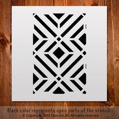 "Small - Crafting Geometric Stencil. DIY Stencil (11"" x 11"")"