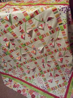 Prairie points pinwheels baby quilt