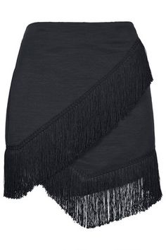 Fringe Trim Wrap Skirt - Topshop USA cute as a dance skirt! Fringe Skirt, Fringe Trim, Fall Skirts, Short Skirts, Kleidung Design, Topshop Skirts, Tiered Skirts, Skirt Outfits, Who What Wear