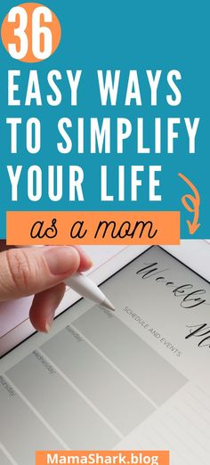 Every mom feels overwhelmed at times- like there's never enough time to do what she needs to do- it's hard to fit it all in! Let's simplify your mom life and make it easier on you, Mama! These simple tips and ways to simplify your life will help you to reduce your mental load and do more of what you love as a mom! #simpleliving #waystosimplifyourlife #momtips