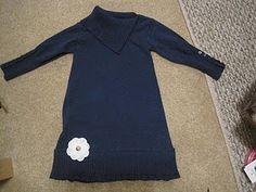woman's turtleneck to girls sweater dress