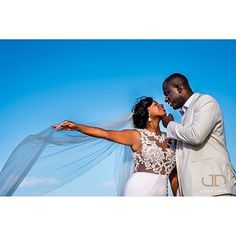 Wedding portrait captured by @joshua_dwain bride's dress by @anazofficial #bride #groom #instabride #weddings #photography #instapost #weddingideas #veil