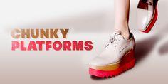 Chunky Platforms- jetzt wird dick aufgetragen! #trends #fashion #style
