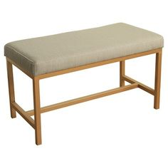 Long Rectangle Bench with Metal Base- HomePop : Target