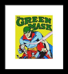 Streetwear Framed Print featuring the mixed media The Green Mask by Otis Porritt