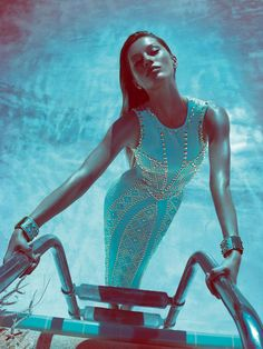 Gisele Bundchen for versace s/s 12 campaign. Like a mermaid!