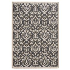 Dress up your home's decor with the addition of this beautiful traditional floral accent rug. With a casual color palette of charcoal grey and ivory, this sophisticated rug will add rich style to any space.