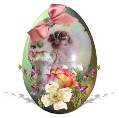 """Antique Easter Egg"" by pattysporcelainetc ❤ liked on Polyvore featuring art, vintage and country"