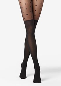 Collants Cuissarde Pois