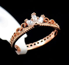 Rose Gold Rapunzel Inspired Delicate Crown Ring