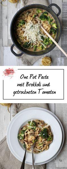 One Pot Pasta mit Brokkoli und getrockneten Tomaten   Kochen   Rezept   Weight Watchers