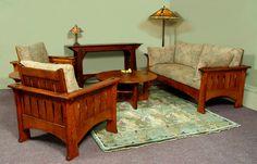 Living Room Ensemble (sofa, easy chair and coffee table). Catlin sofa, chair and coffee table. in nature cherry.ColdRiverFurniture.com
