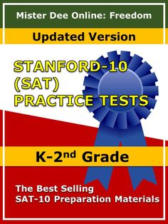 Prepare your students for SAT-10 Achievement Tests today with the help of these practice tests in math, reading, language, and environment for kindergarten, first grade, and second grade. Click here to view and download these resources. http://misterdeeonline.blogspot.com/?m=0