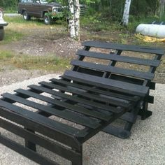 Pallet lounge chair. Fits two :)