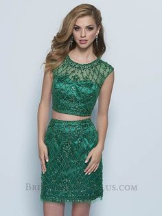 Sparkly green two piece homecoming dress. See more like Landa E606 and view our…