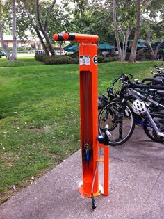 CALTECH BIKE LAB: Check out the new Dero Fixit DIY Bike Repair Stand outside Chandler Dining Hall and Red Door Cafe!