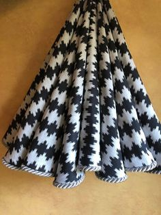 silver and black ikat christmas tree skirt