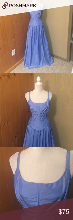 Betsy & Adam formal dress Looks like two pieces but not.  Has a nick in the material on the front bottom of the dress. Some discolor on inside of dress. See photos. Pretty blue/purple color.👠🦄 Betsy & Adam Dresses Prom