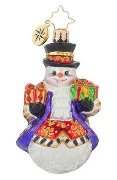 Christopher Radko 'Elegant Adam' Snowman Ornament available at #Nordstrom