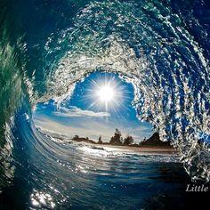 Clarke Little- wave,  art, sun, gorgeous,  blue, green, aqua,  water