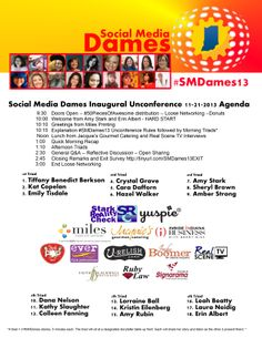 The Final Agenda and One Sheet for #SMDames13 - what a great day of speakers, sponsors and women!