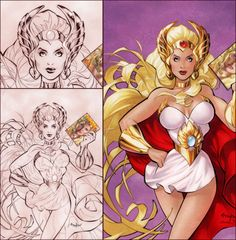She Ra By Franchesco She Ra Princess Of Power Pin Up Illustration