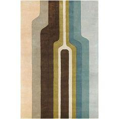Hand-Tufted Rojan New Zealand Wool Area Rug (5' x 7'6)