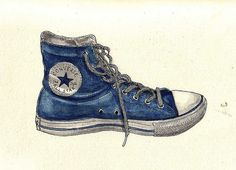 high top sneaker watercolor painting | Recent Photos The Commons Getty Collection Galleries World Map App ...