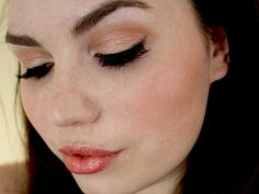 Peachy-gold on eyes, lips and face