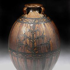Alex Matisse pottery, woodfired work for sale at MudFire Gallery for clay