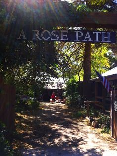 Rose Path. Antiques in Julian, California.