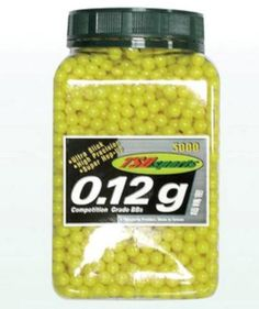 TSD Sports 3000 ct Jar Plastic Yellow Airsoft BBs 6mm 012g *** You can find more details by visiting the image link.