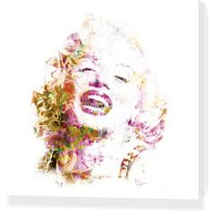 """Marylin Monroe """"POP"""" by Eric Lapierre - Stretched Canvases"""