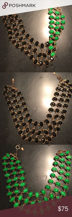 Amrita Singh Cleopatra reversible necklace Black and green . Perfect condition ! Great Mother's Day 🎁🎁🎁 Amrita Singh Jewelry Necklaces