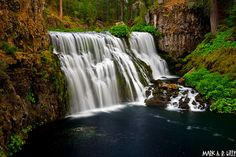 Shasta National Forest - Middle McCloud Falls - September 18, 2010 by markarlilly, via Flickr