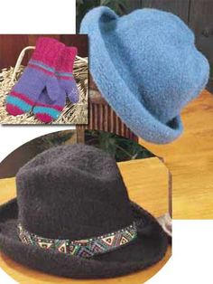 Felted Hat.  Free Download Pattern Available AFTER you join FreePatterns.com