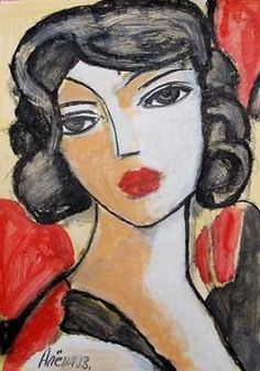 Wit-Russchische kunstenares Elena Drobychevskaja - gezicht 6