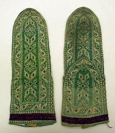 Socks (Iranian), 19th century.  From the Metropolitan Museum of Art.