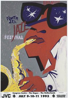 Jazz Festival, Festival Posters, Concert Posters, Music Posters, Black Music Artists, Jazz Cat, Classic Jazz, Jazz Poster, North Sea